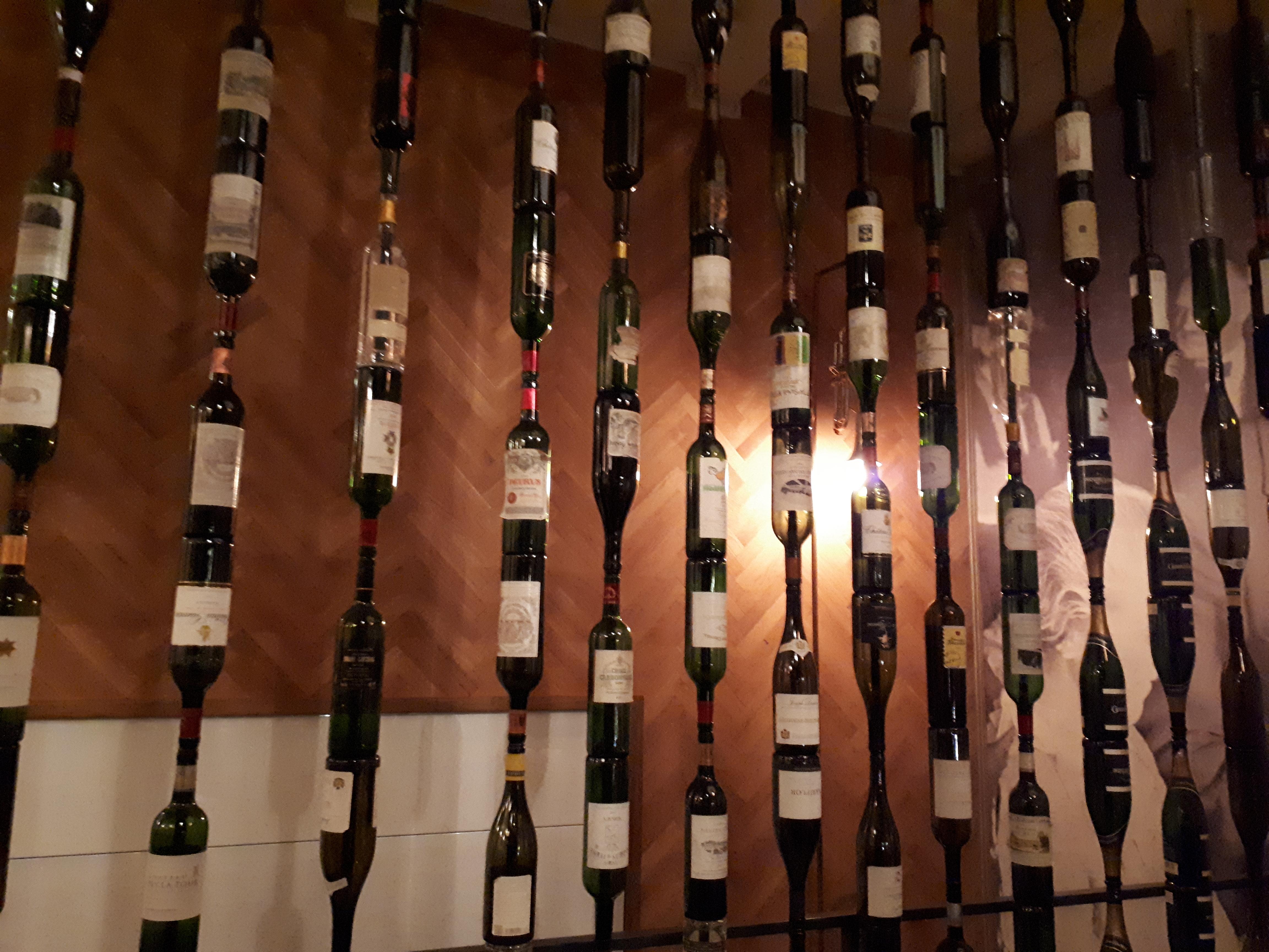perete sticle vin De Corina